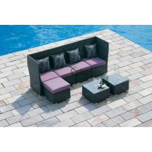DE-(154) outdoor furniture sofa wicker/ rattan new l shaped sofa designs