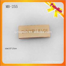 MB255 Forme la insignia deboss del metal de encargo para el cuero de la PU metal la placa del logotipo del metal