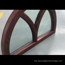 American arched top  double  layer tempered glass windows with grille design