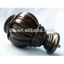 Resin curtain rod finial