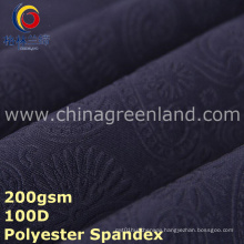 Knitted Embossed Polyester Spandex Fabric for Dress Textile (GLLML295)