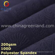 Tela de spandex de poliéster em relevo de malha para vestido têxtil (GLLML295)