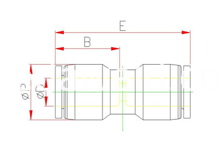 PU Pneumatic Quick Connector Fittings