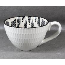 Embossed Stoneware Soup Mug