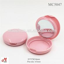 MC5047 Großhandel rundes kompaktes Pulvergehäuse mit Spiegel