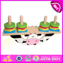 2014 Block Animal Wooden Balance Game, Educational Colorful Balance Game, Wood Educational Games Magnetic Beads Balance W11f016