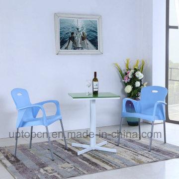 Plastic Chair Aluminum Table Garden Furniture Sets (SP-CT842)