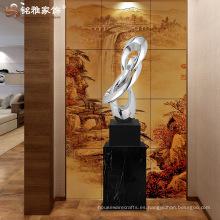 Inicio decoración artesanía electroplated resina gran estatua para la decoración de la oficina