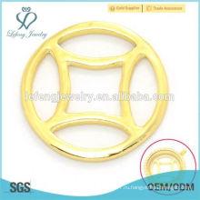 Мода 22 мм золотого сплава металлического стекла плавающей прелести памяти медальон окна пластин опт