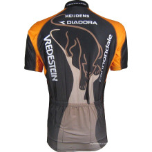 Нестандартная печать сублимации Неоновый желтый цвет Велоспорт одежда