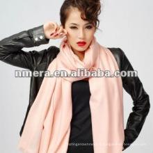 Vente en gros, diamant, doux, écharpe élastique 100% fine en laine fine femme