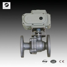 electric motor actuator ball valve L flow T flow flange type asa 150# stainless steel