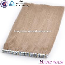 A maioria de extensões dobro populares do cabelo da fita da parte inferior do fundo tirado do dobro