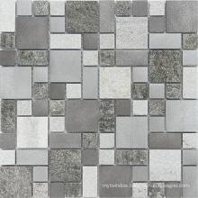 8mm Rusty Slate Mosaic, Mosaic Tile, White Marble Tile, Glass Mosaic