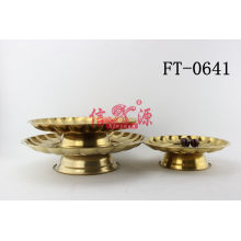 Stainless Steel Gold Plated Tray (FT-0641)