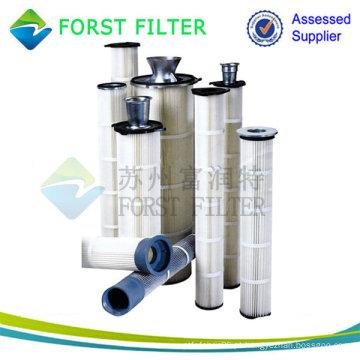 Filtros de saco plissado, filtros de saco lavável, filtros de saco para poeira de cimento