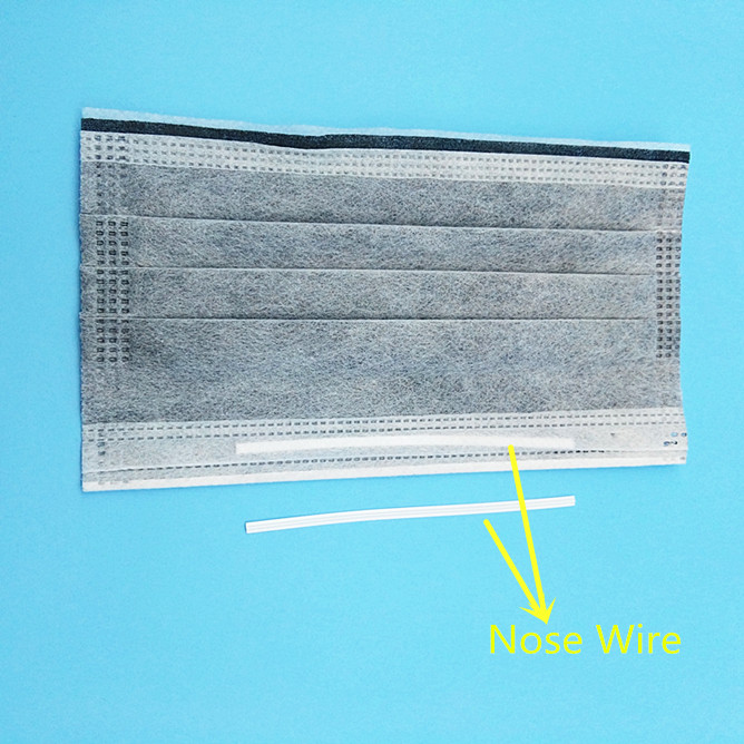 Plastic Coated Single Metal Nose Wire