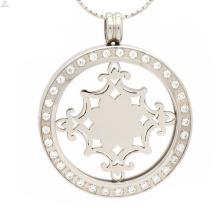 Четкий медальон кулон,с ЧПУ CZ камень кулон монета