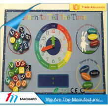 magnetic learn the time fridge magnet clock board