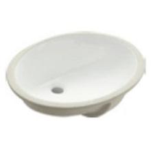 Pia de cerâmica com bancada inferior para banheiro