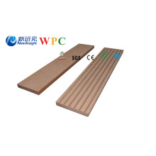 63X10mm WPC Wood Plastic Composite Plank Decorative Board Skirting Profile
