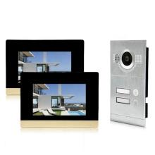 Hotel 4 wired video door bell 2 family 4 wire doorbell system