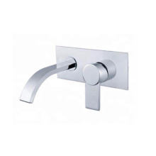 YL-91227 Single lever wall mount bathroom taps wall sink faucet