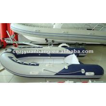 (CE) RIB 330 pvc tube rigid fiberglass hull inflatable boat
