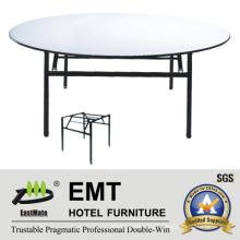 Table de banquet d'hôtel avec cadre en métal solide pliable (EMT-FT602)