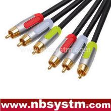 Montaje de cable compuesto de tipo A / V 3xRCA Plug a 3xRCA Plug Rojo / Blanco / Amarillo