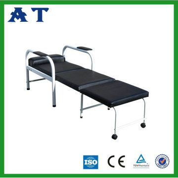 Hospital equipment folding accompany bed
