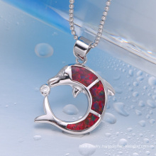 zhefan jewelry fire opal pedant with custom logo with good quality
