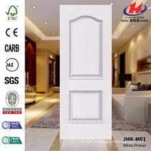 JHK-M01 Рельефная современная модель гладкой поверхности Белая грунтовка Primer Высококачественная дверная обшивка