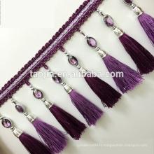 2016 Belle bordure en perles bordées de rideau pour rideau, fabriqué en Chine
