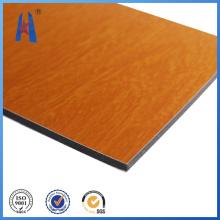 Buen precio Panel de aluminio resistente al fuego de madera de color