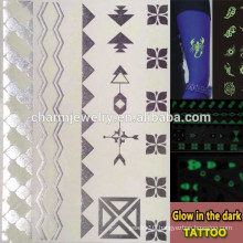 OEM Wholesale glow in the dark tattoo fashion brands luminous tatoo temporary tattoos Sticker for adults GLIS005