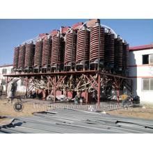Canal de espiral de la máquina de recuperación de oro para procesamiento de minería