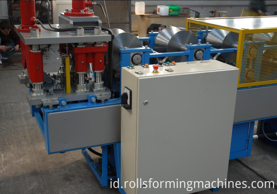 lows matel roofing cost and ridge cap making machine 05