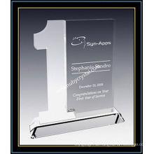 """Jahr der Service-Auszeichnung Plaque Frosted Crystal 8 """"H (NU-CW696)"""