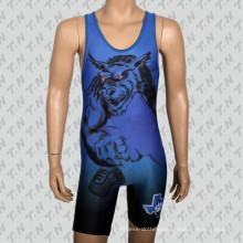 2016 Custom Design Heat-Transfer Wrestling Singlet