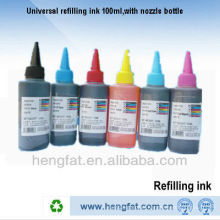 Hot sale refill ink nozzle bottle 100ML dye ink for EP-BK/C/M/Y/LC/LM