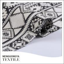 Logotipo personalizado de alta qualidade bonito fio tingido tecido jacquard de qualidade