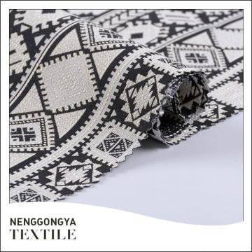 Tissu de robe de jacquard de qualité faite sur commande de beau tissu de qualité de logo fait sur commande