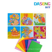 Etiquetas engomadas del mosaico de Diy arte divertido del juego de la diversión de los niños