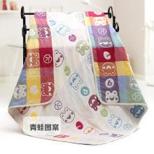 Cobertor do bebê do projeto da rã de Musselina nova, toalha do bebê