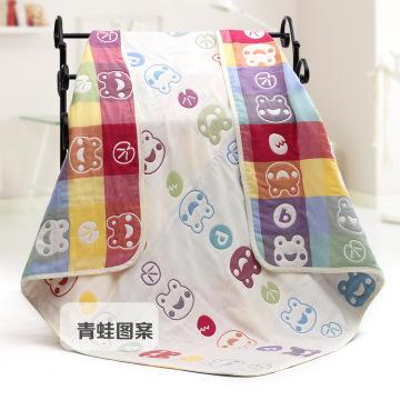 Musselin neue Frosch Design Babydecke, Baby Handtuch