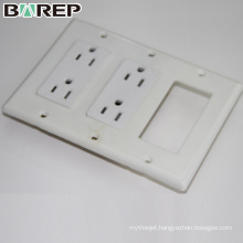 YGC-008 Multi function table top electric gfci black plug socket covers