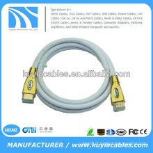 Novo 15Ft V1.4 3D HDMI M para M cabo de metal de liga de zinco com conector de ouro