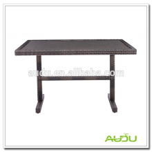 Stainless Steel Dining Table,Rectangle Shape Rattan Dining Table
