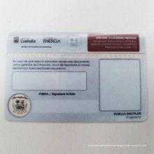 Cartão de licença de driver de impressão de segurança UV